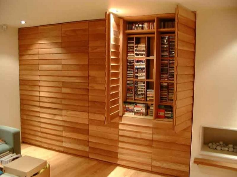 Cool dvd storage ideas modern wooden dvd storage cabinets Cool wood shelf ideas