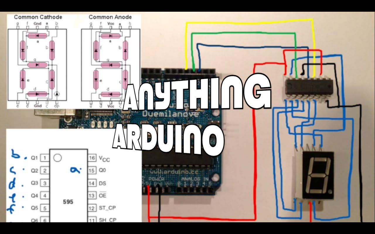 Using A 74hc595 To Connect An Arduino 7 Segment Led Display Adafruit The Kitbased Electronics Retailer And Promoter Of Hobbyist Anythi