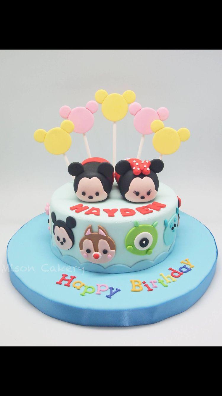 Tsum Tsum cake Evelyns 1st Birthday Pinterest Cake