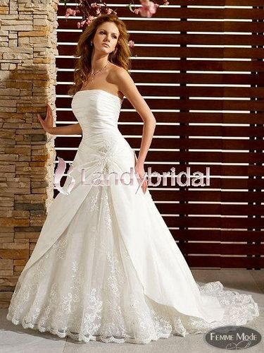 This strapless chapel train aline wedding dress can make you more pretty in your wedding   Your one-stop spot for finding suppliers of Wedding Services for the Crawley area - http://www.crawleyweddingsuppliers.uk/