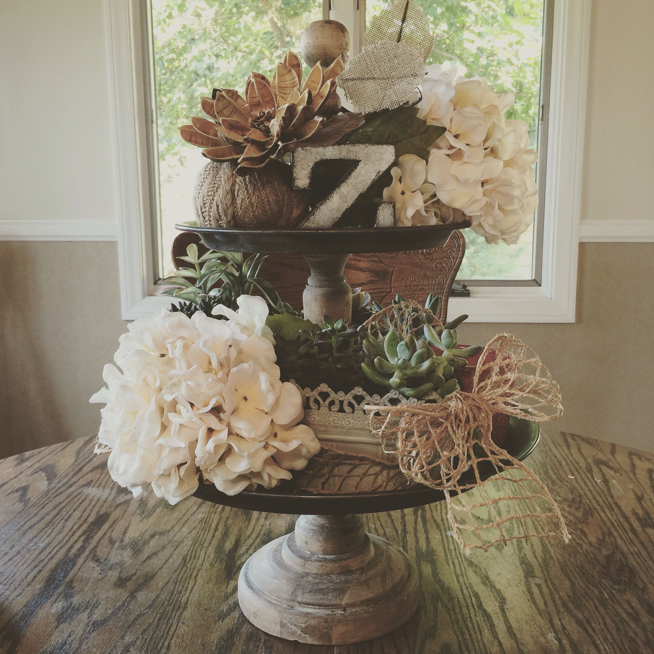 Two Tiered Tray From #magnoliamarket, Had Fun Decorating