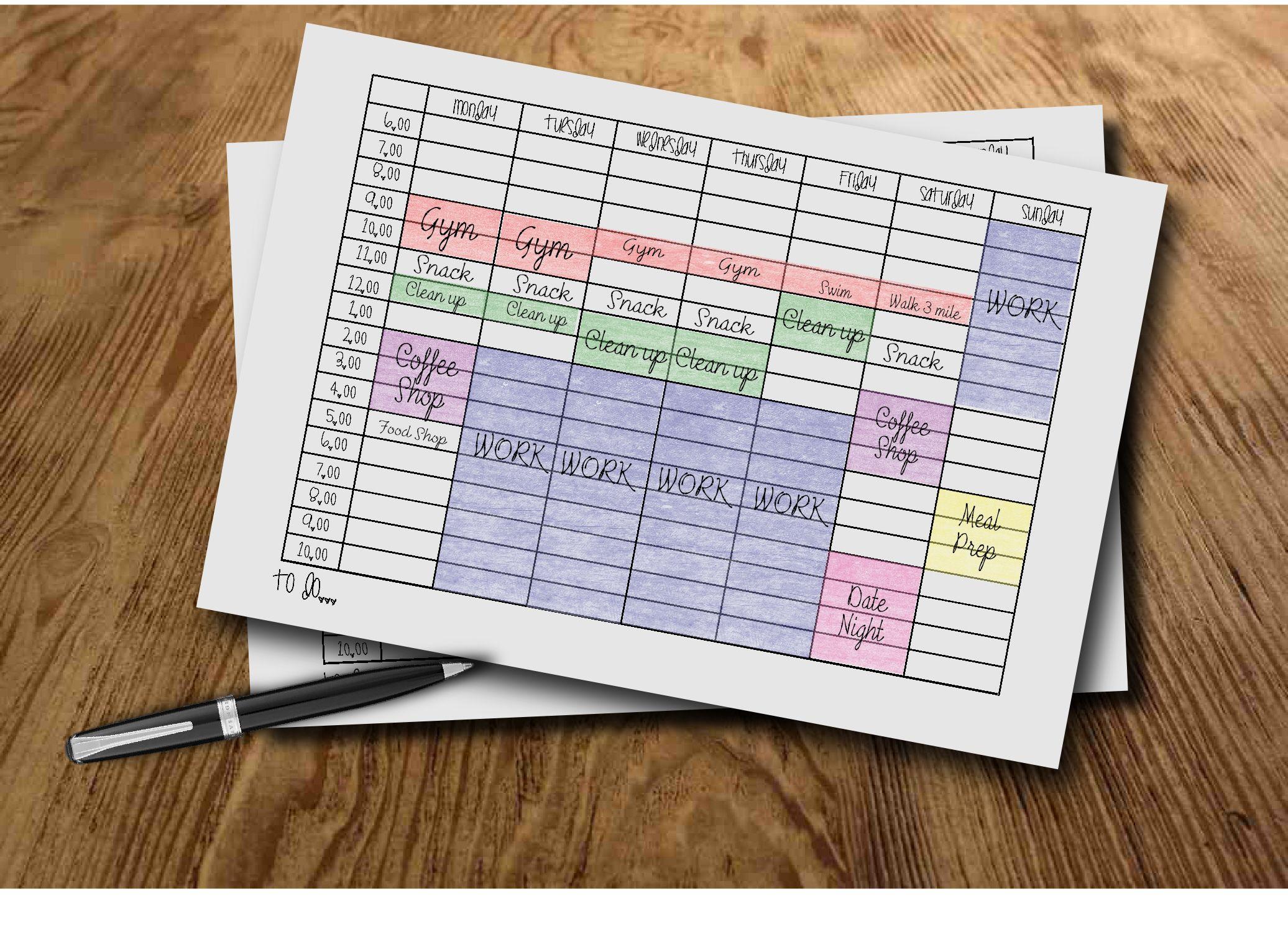 Boss Girl Time Blocking Time Management Bullet Journal