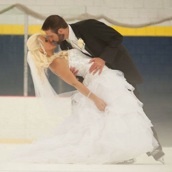 Find out how one fun, adventurous couple used their ice-skating roots to inspire a wedding unlike any other.