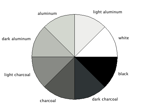 Different Shades Of Gray shades of the color grey |  desktop color palette you see above