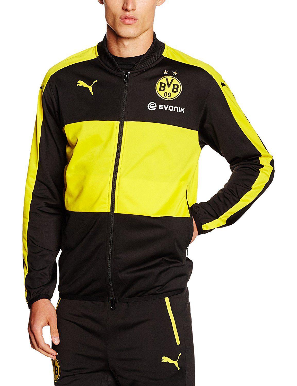 Jacket with JackeAmazon Puma Poly Bvb Sponsor Logo Herren 54AjRL