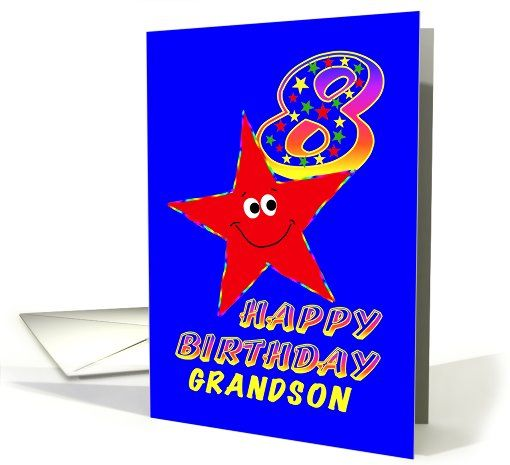 Happy 8th Birthday Grandson Card 479382
