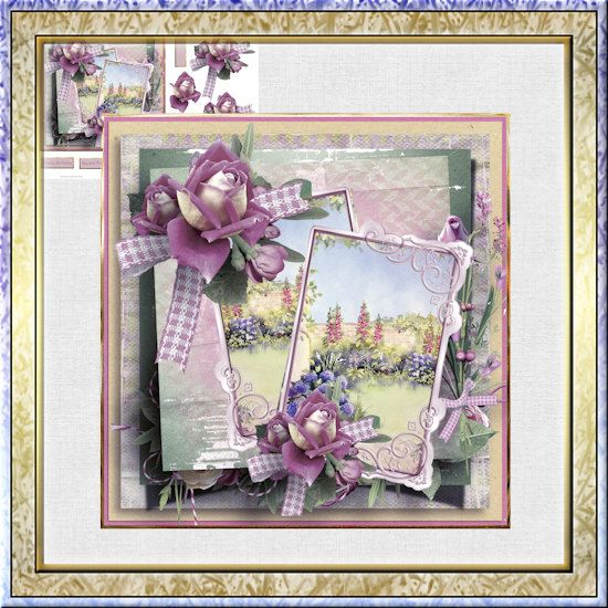 English cottage and flowers is an A4 sheet card kit with decoupage download by BaysWakeDownloads by BaysWakeDownloads on Etsy