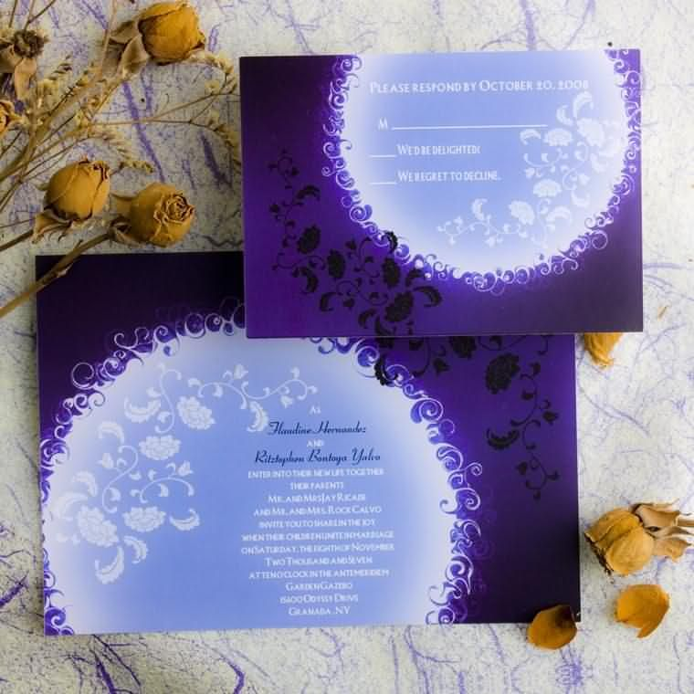 Cheap Wedding Invitations Free Response Card Printed Envelops V