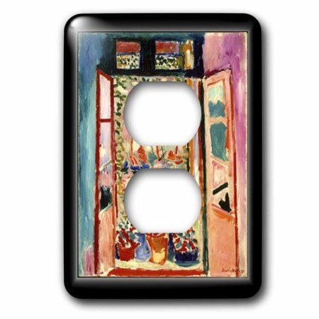 3dRose Matisse Painting The Open Window, 2 Plug Outlet Cover