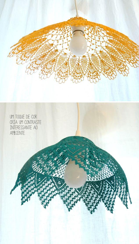 Para-artesas-habilidosas-Luminarias-de-Croche   Luminárias e abajur ...