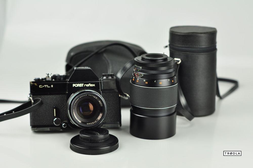 PORST reflex C-TL II Tele 1:3,3 200mm Reflex Auto 1:1,7 50mm camera Kamera