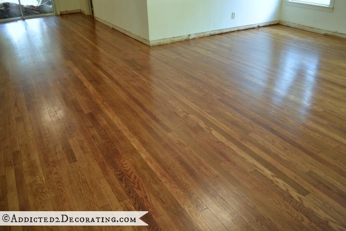 Diy Refinished Hardwood Floors Original 65 Year Old Oak Were Hidden Under Carpet For 30 Years
