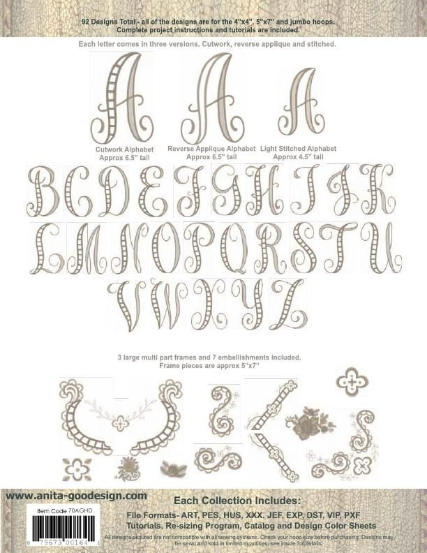 Decorate Alphabet Free Embroidery Collection Download File4sharing