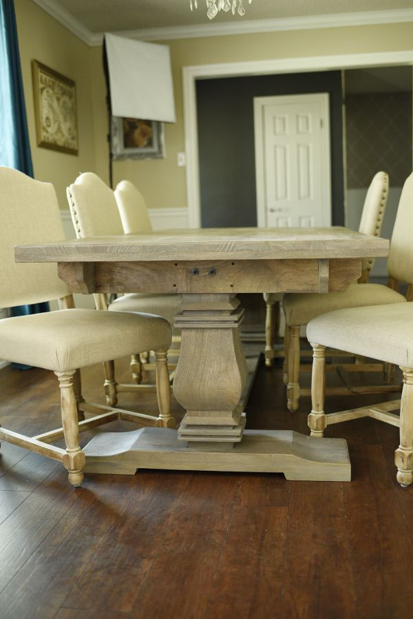 The Aldridge Dining Table Is About Half Price Of Comparable Restoration Hardware Version This Blogger Gives A Full Review Everything From
