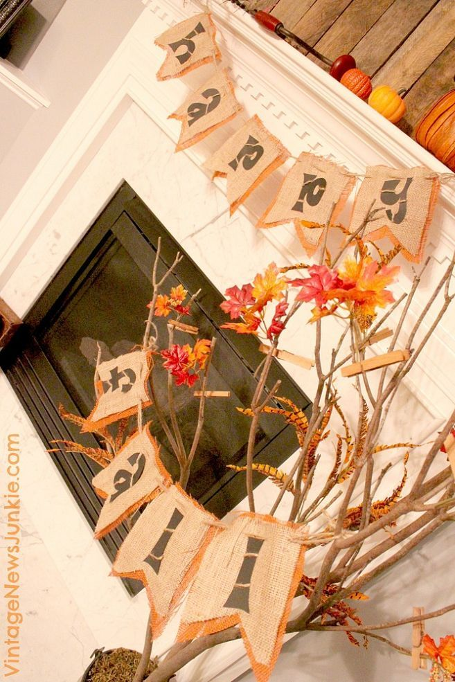 The 'No-Hot-Glue' Fall Burlap Banner! | Fall burlap banner ...