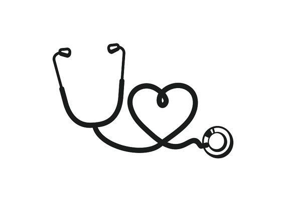 Stethoscope Nurse Vinyl Decal For Macbook Cars By Ellystudio Estetoscopio Desenho Tatuagem Enfermagem Tatuagens Medicas