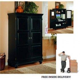 sunrise home furnishings traditional black computer armoire