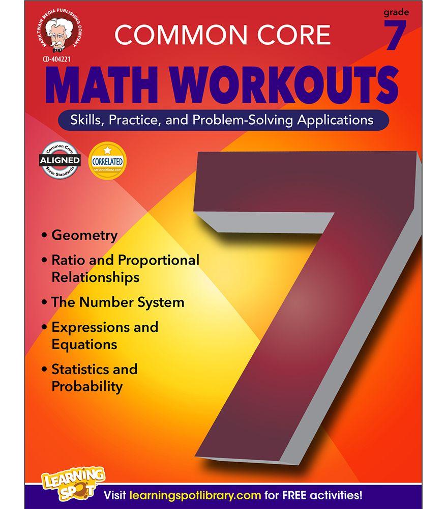 Common Core Math Workouts Resource Book Lesson Plans Pinterest