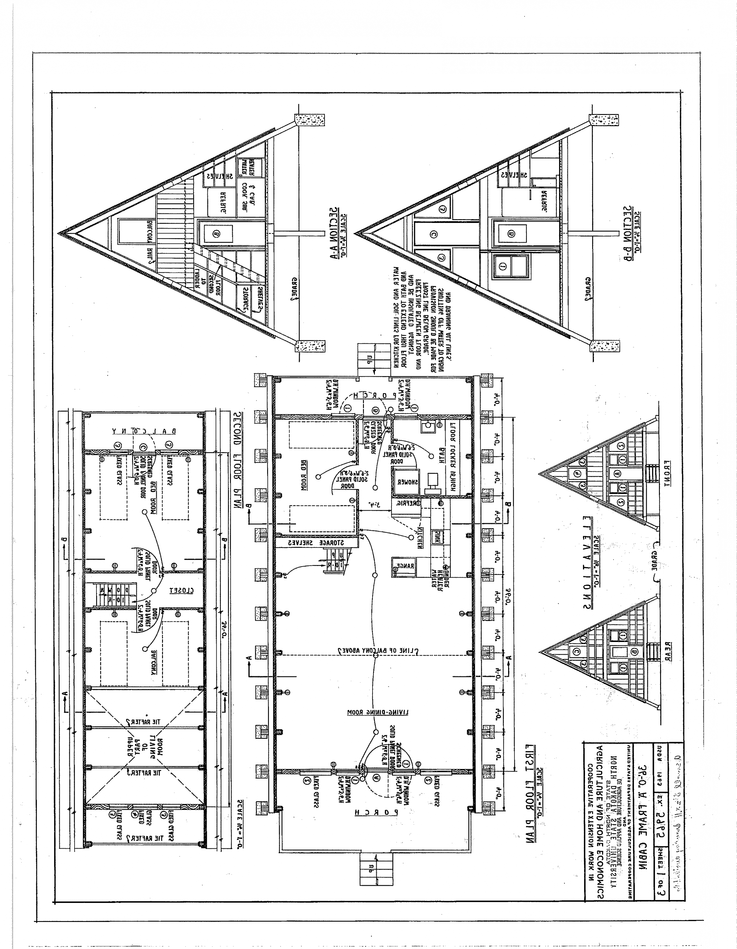 Free A Frame Cabin Plans Blueprints Construction Documents Sds Plans Free House Plans Bedroom Liv A Frame Cabin Plans Tiny House Layout Small House Plans