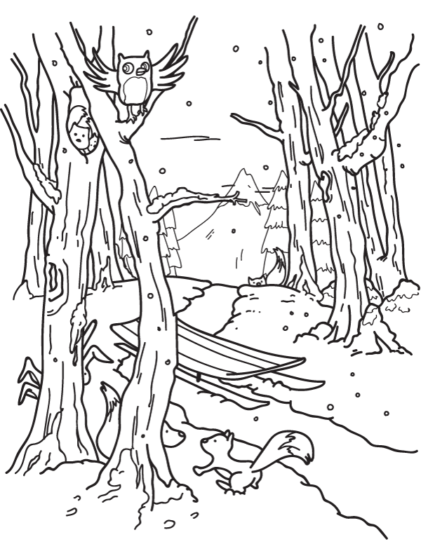 Free Winter Forest Coloring Page Download It From Https Museprintables Com Download Coloring Page Coloring Pages Winter Forest Coloring Pages Coloring Pages