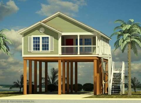 Built On Stilts Karrie Jacobs On A Strange New Kind Of House Being Built Small Beach Houses Tiny Beach House House On Stilts
