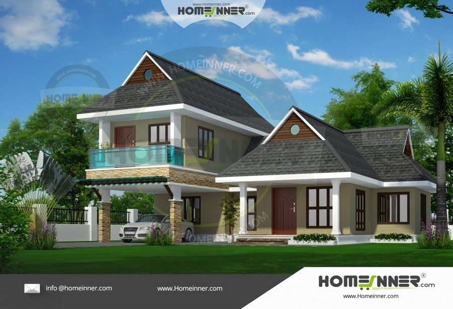 Beautiful 3 Bedroom Thai House Elevation