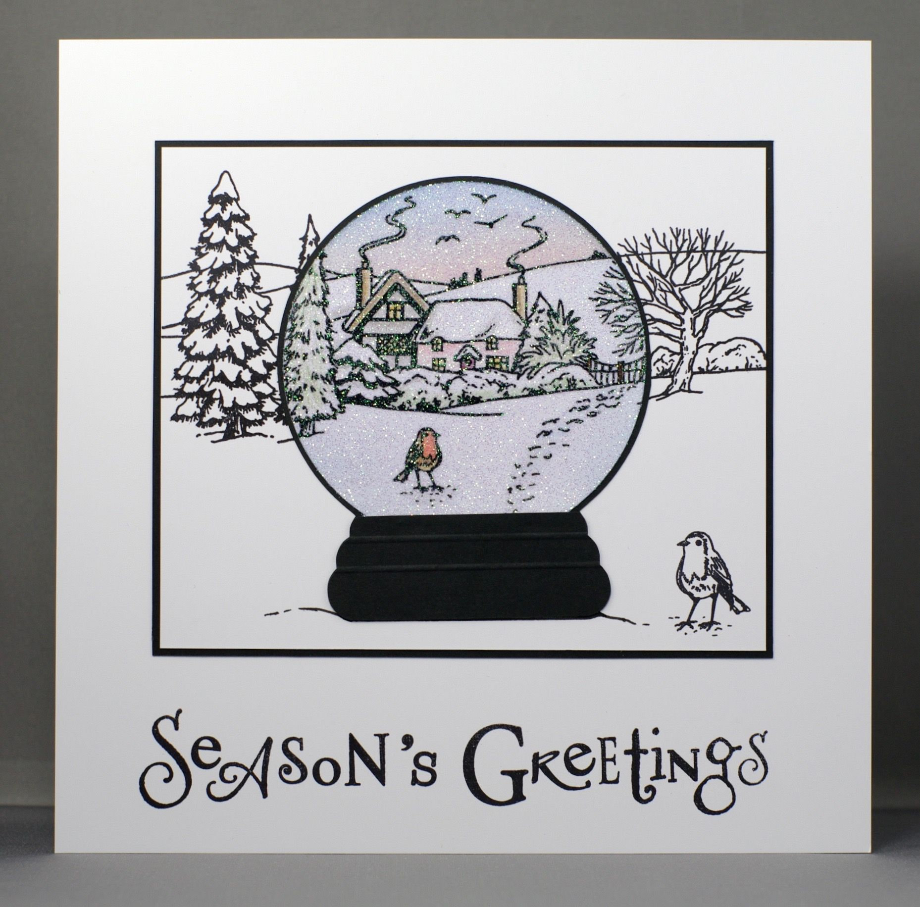 Jayne Nestorenko's Winter Scenes stamps by Claritystamp