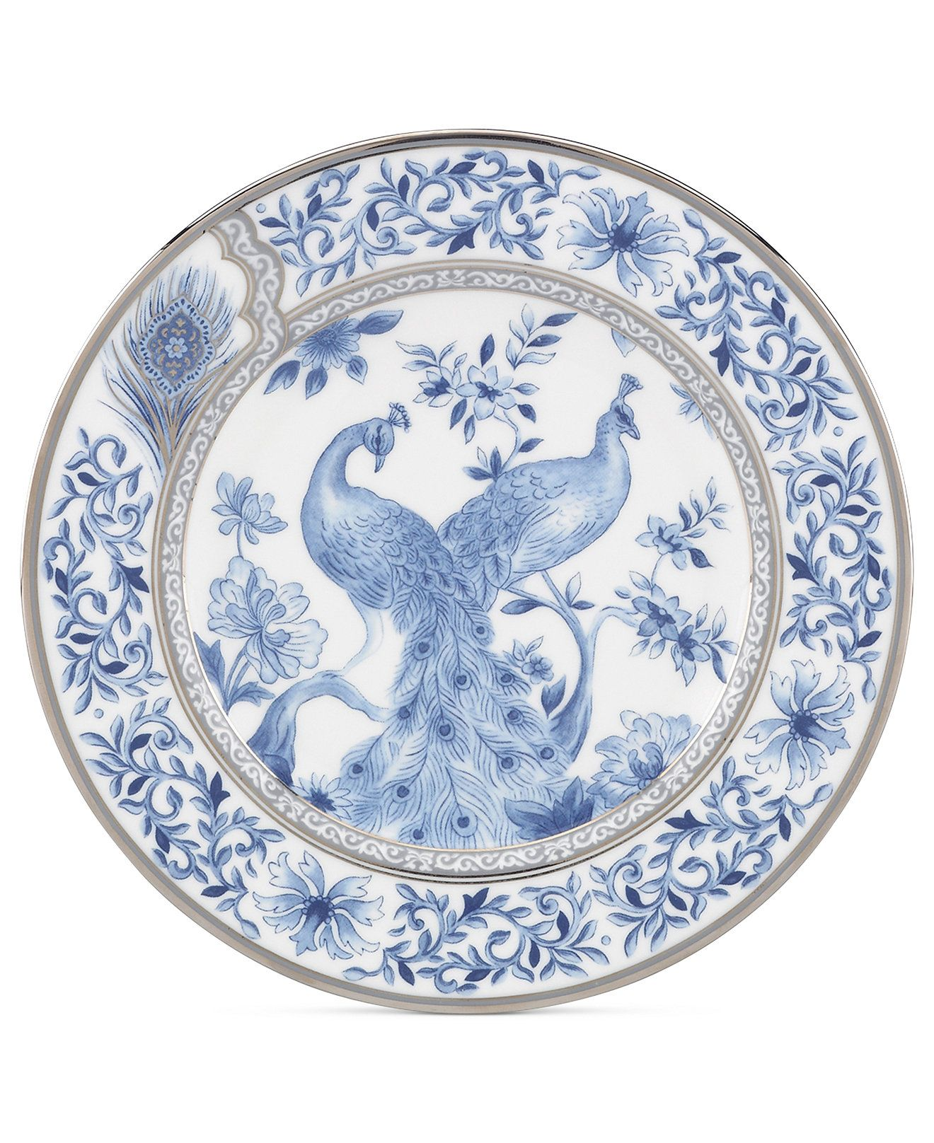 Marchesa By Lenox Dinnerware, Sapphire Plume Salad Plate