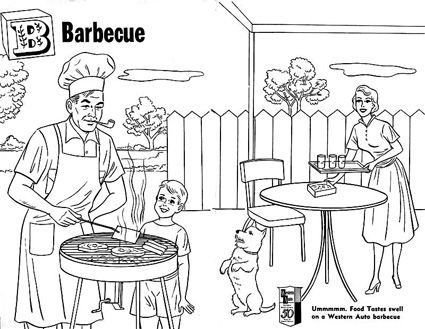 Bbq Color Page Coloring Book Pages Coloring Pages Coloring Books