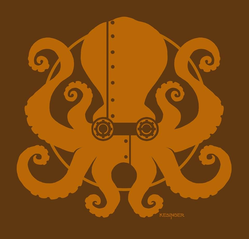 my latest shirt is now on sale here:  http://www.welovefine.com/6189-steampunktopus.html#.UfK_W7beajI  ladies sizes will be available soon! Brian
