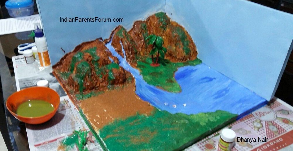 How To Make 3D Model Of Water Cycle | buli | School science projects