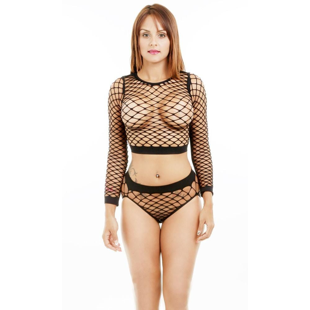 5b2dc79057a Sexy Womens Lingerie Lace Underwear Sleepwear fishnet style exotic dance  wear