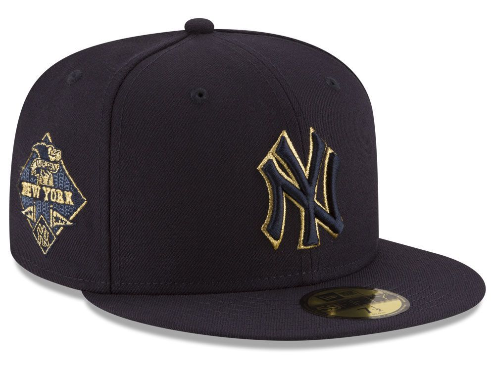 fe6ece067fe41 New York Yankees New Era MLB Team On Metallic 59FIFTY Cap