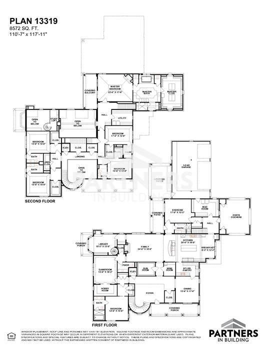 13319 Partners in Building Floor Plans Pinterest Mansion