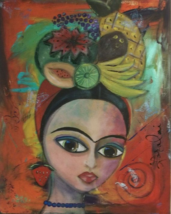 new Frida Kahlo painting at my Etsy Store Check it Out :) $129