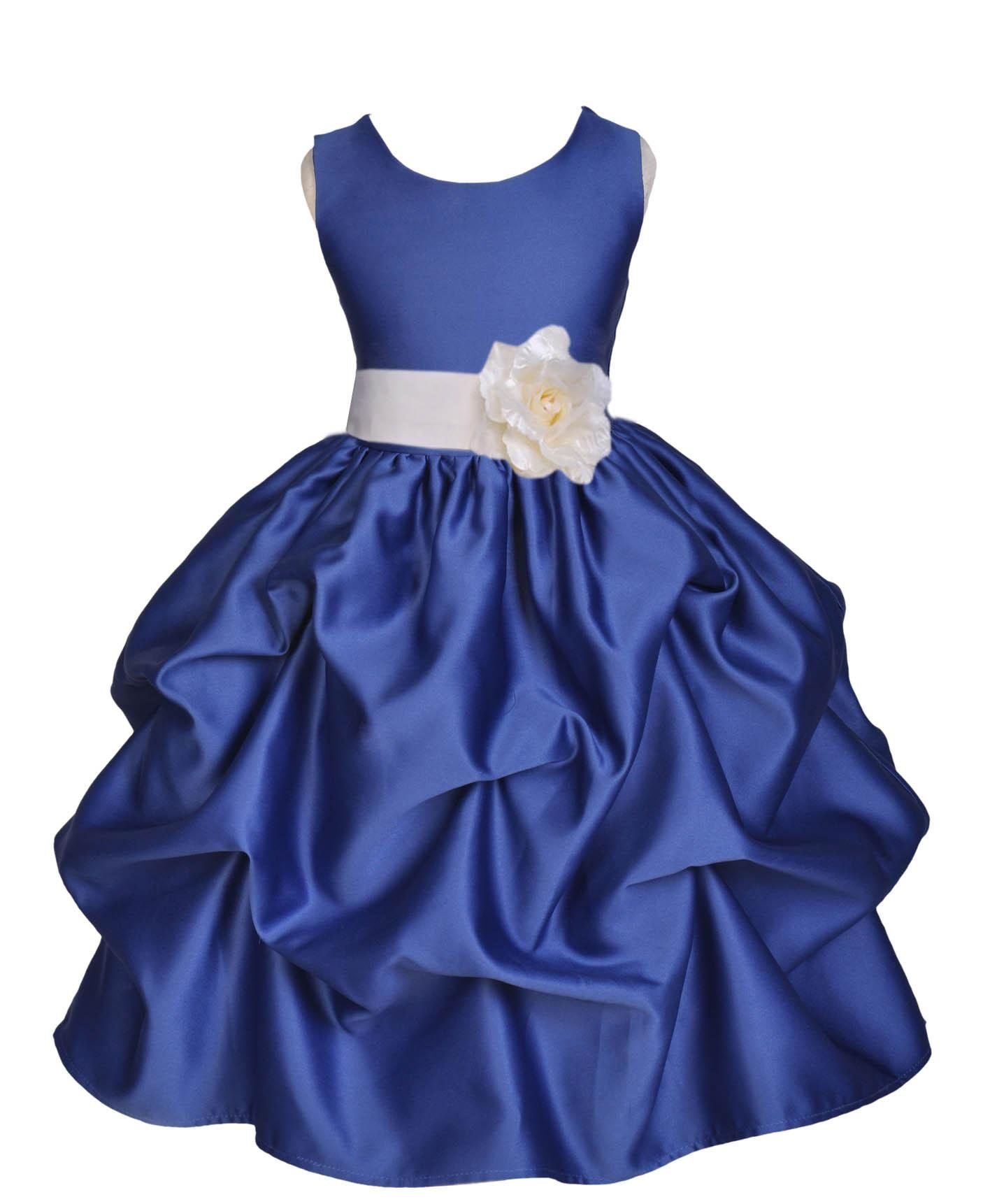 Tiaobug Girls Flower Girl Dress Princess Wedding Party Dresses Pageant Holiday Crossed Back Lace Formal Tulle Flower Girl Dress Moderate Price Weddings & Events Wedding Party Dress