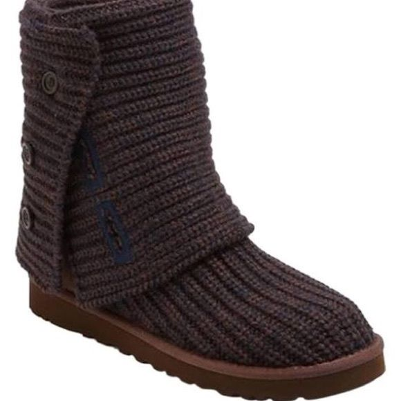 Sweater UGG boots So comfy cozy worn for two months during spring time! Love them you can choose to where them up or rolled over (my personal fav) just got a new pair for this year!  UGG Shoes