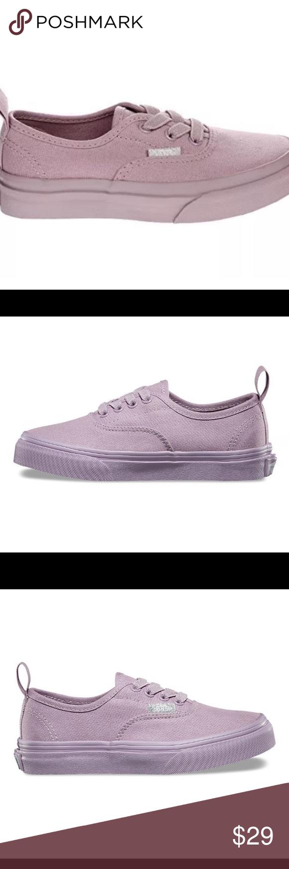 39e09c9165 Vans Authentic Kids Elastic Mono Sea Fog Shoes Authentic elastic ...