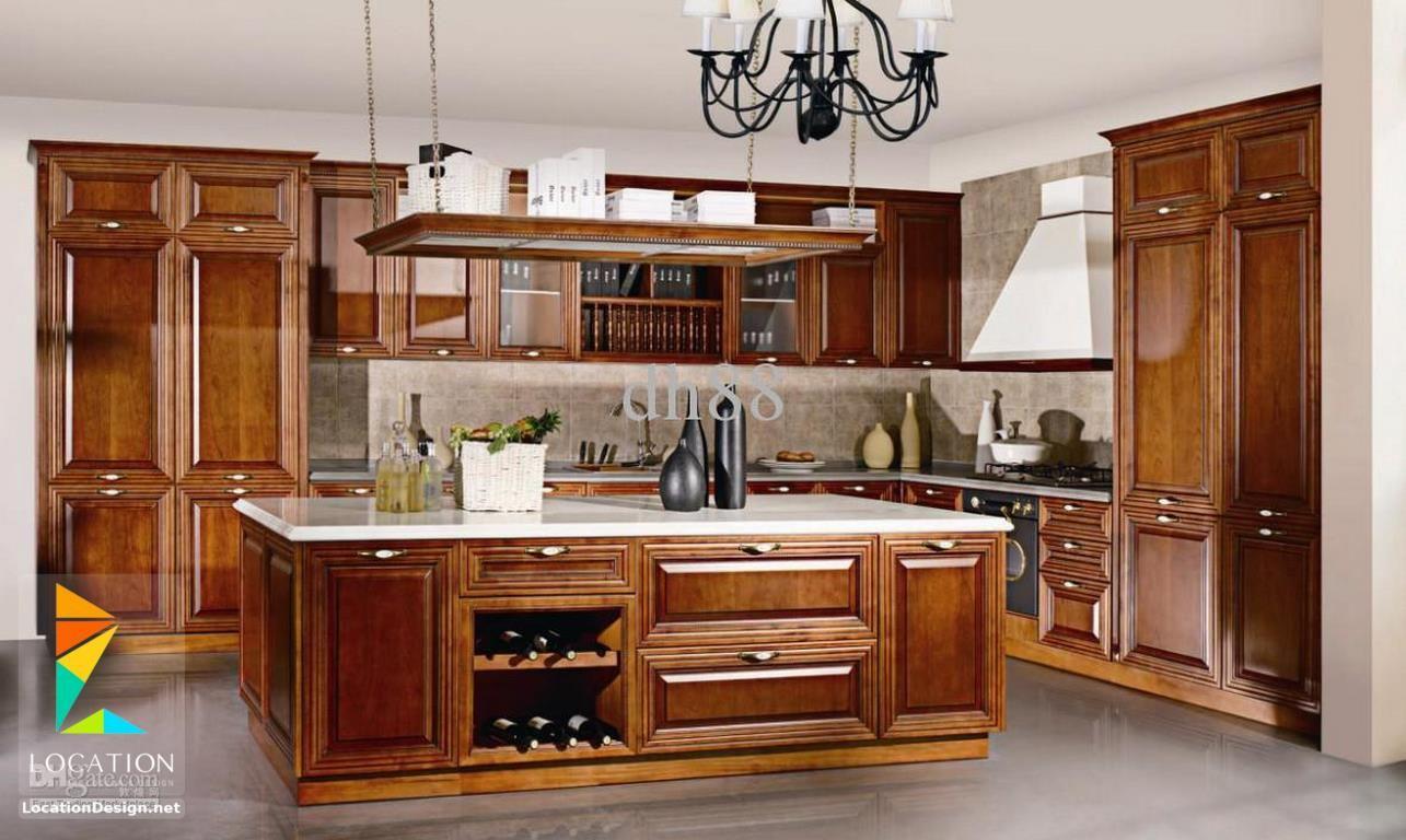أشكال مطابخ خشبية بتصميمات عصرية دهانات مطابخ خشب 2017 2018 Solid Wood Kitchen Cabinets Wooden Kitchen Small Kitchen Makeovers