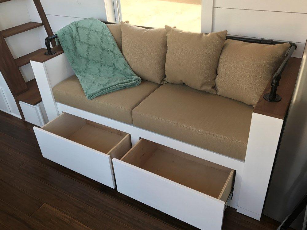 24 Modern Rustic Farmhouse Bi Sofa With Drawer Storage Sofa Storage Family Living Room Design Modern Bedroom Storage
