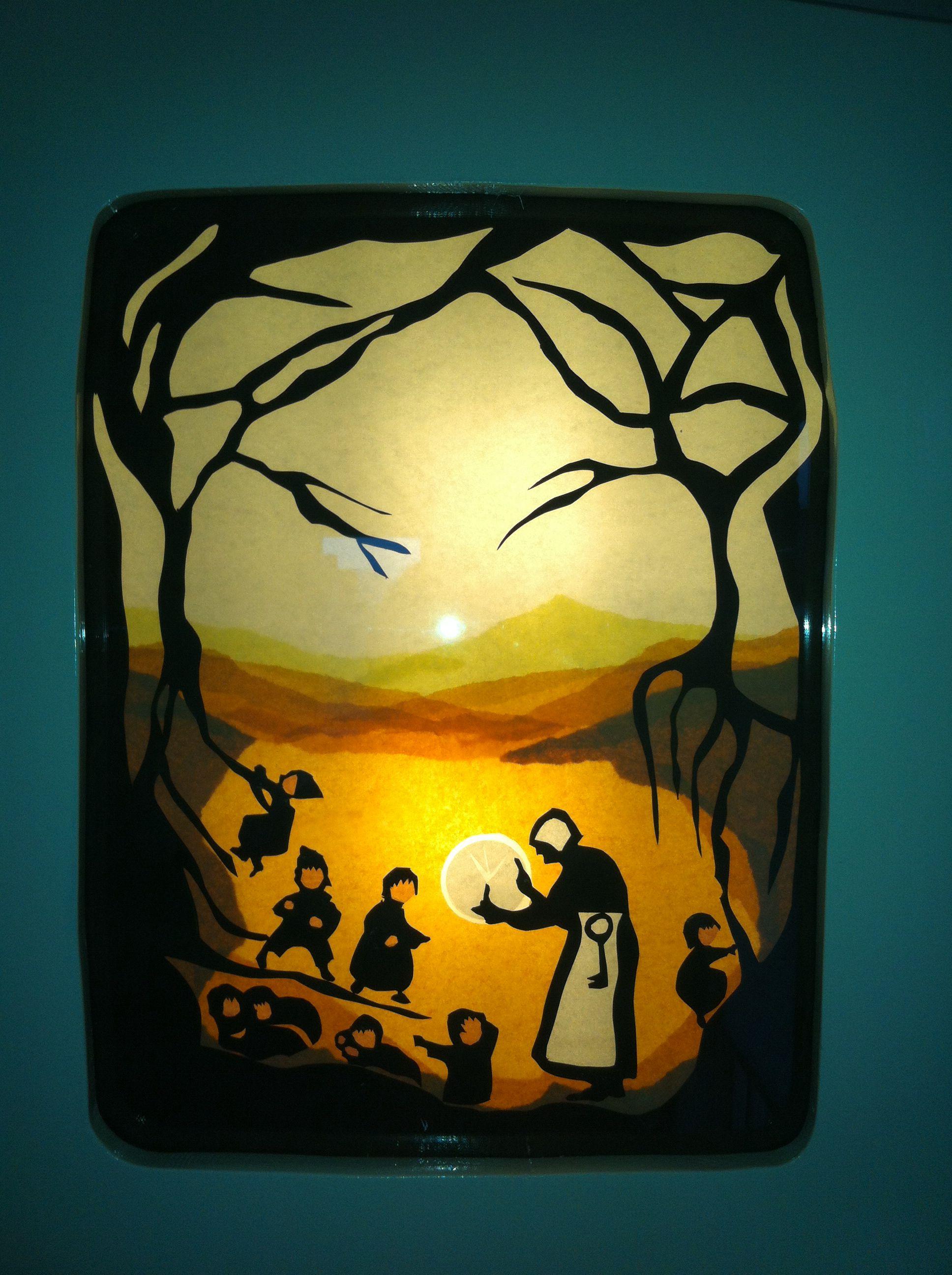 Transparant Moeder Aarde en de wortelkinderen in mijn mooie lamp.@mijnhartje45