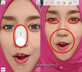 Tutorial edit foto smudge terbaru wajah kartun Smudging