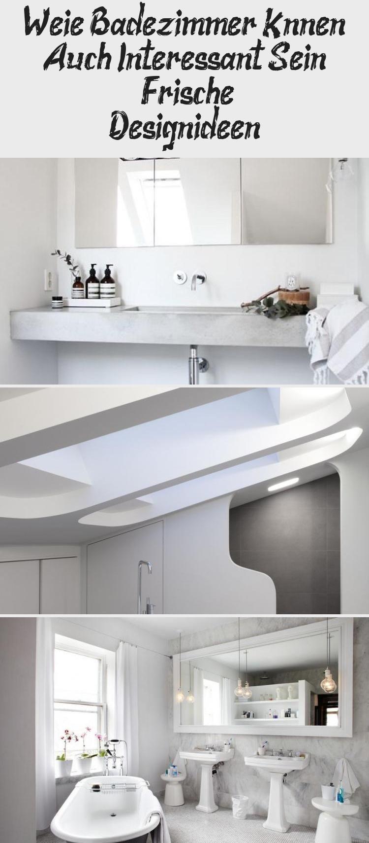 Weisse Badezimmer Konnen Auch Interessant Sein Frische Design Ideen Pinokyo In 2020 Bathroom Bathtub