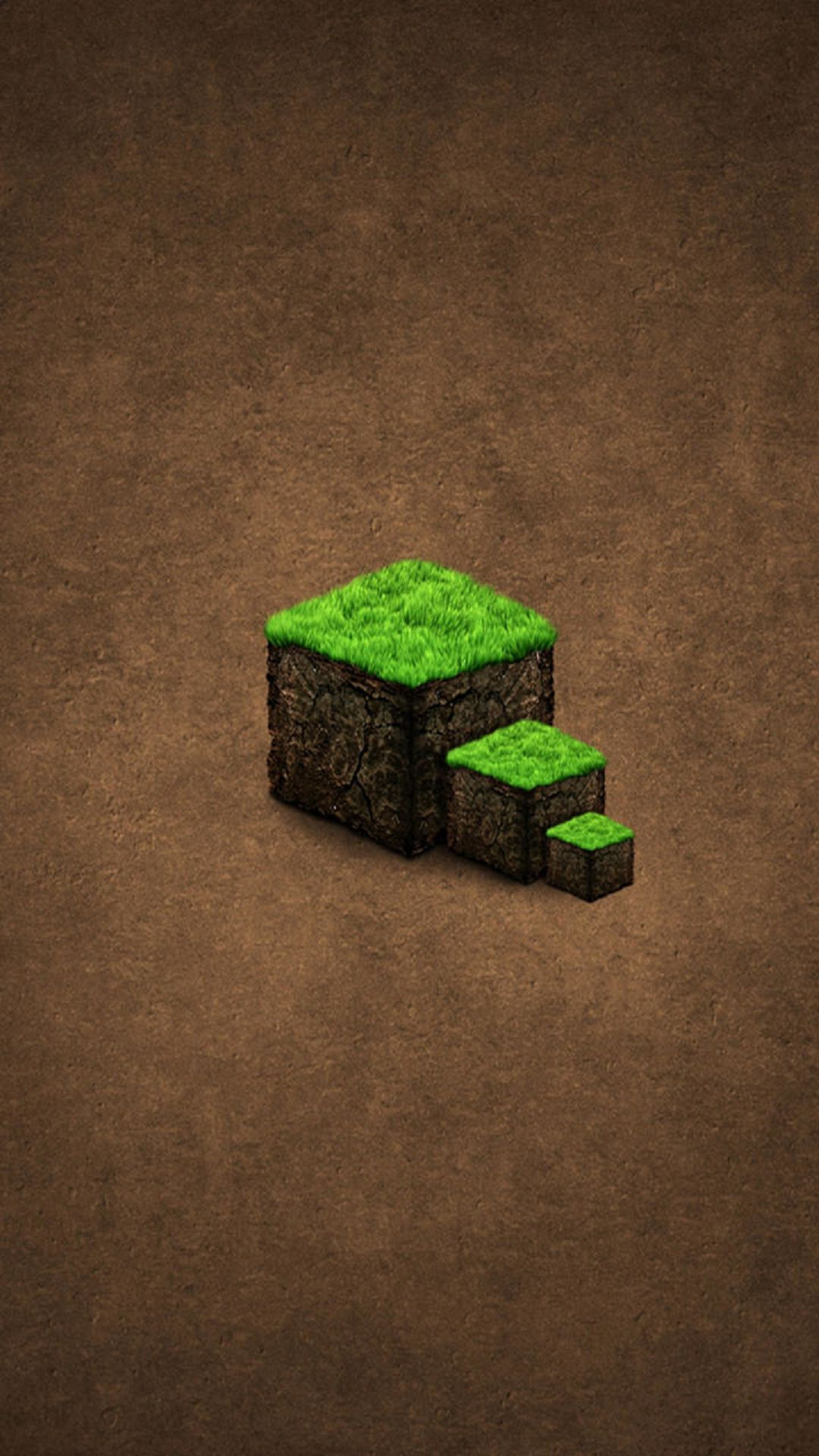 Green Grass Cube Steps Minecraft wallpaper, Android