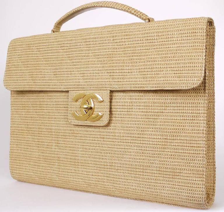 Vintage Yellow Rattan Handbag Laptop Bag