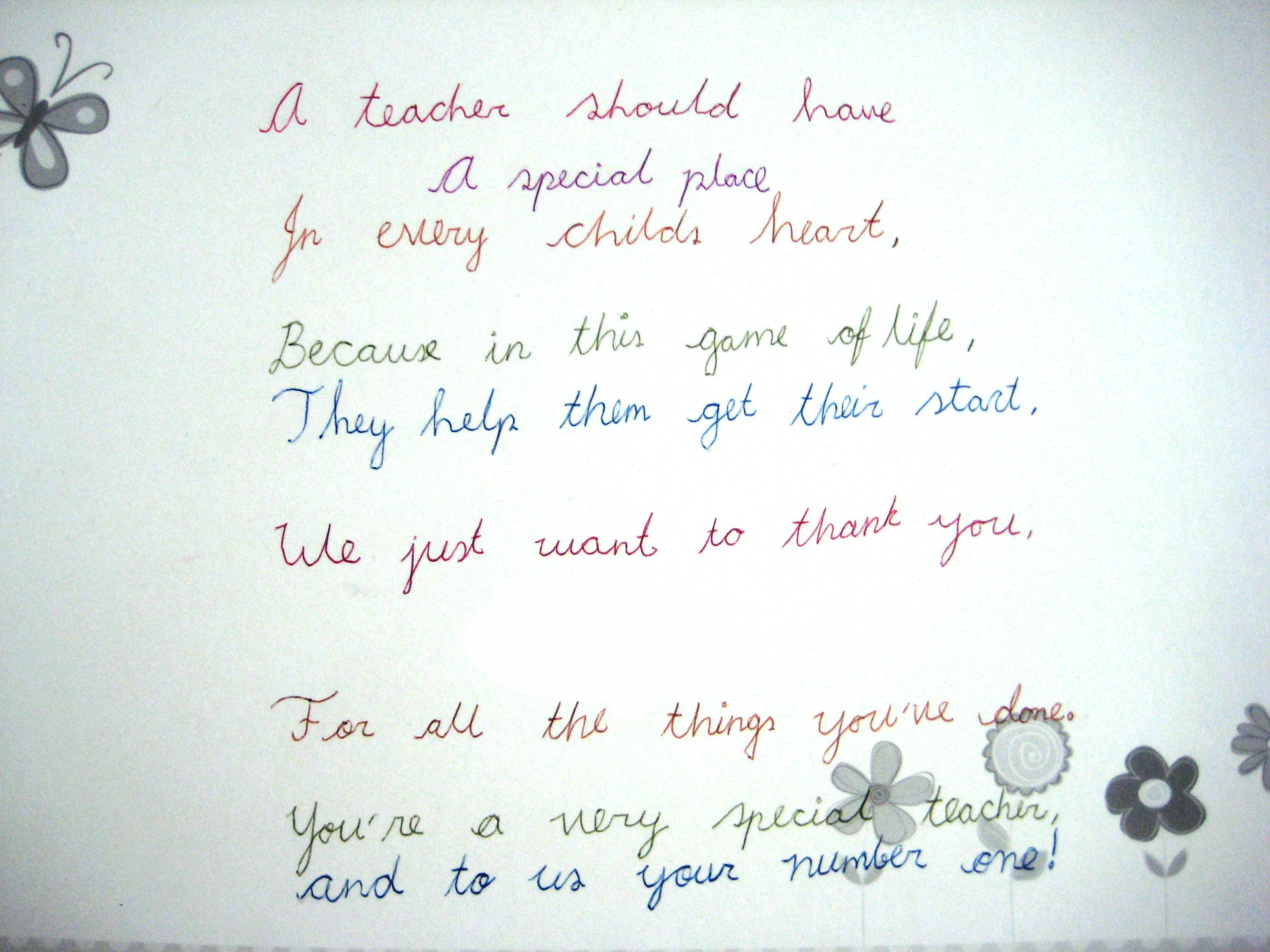 This beautiful poem was written for my daughter from her