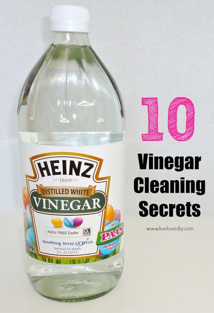 10 Vinegar Cleaning Secrets - So many amazing ways to use vinegar - truc et astuce maison bricolage