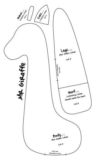 Patrones para hacer una jirafa de tela 2 cojines - Patrones para hacer patchwork ...