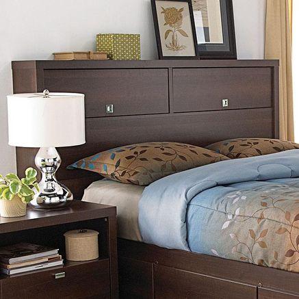 Valhalla Double Queen Bookcase Headboard Sears Sears Canada Headboard Storage Headboard With Shelves King Size Headboard