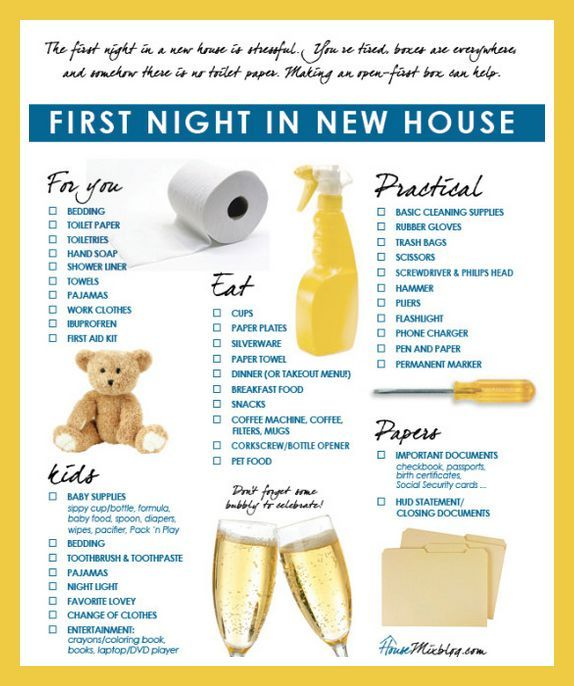 Appartment List: First Night In New House As You Wait For The Delivery Of